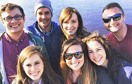 TriMark employees on a team retreat