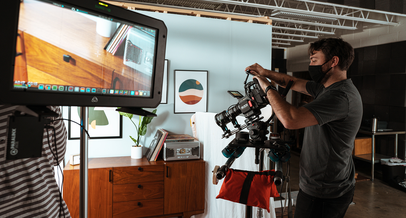 The TriMark Video Department creating crafted videos for Closets By Liberty