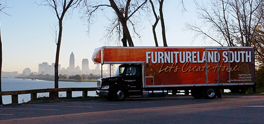 Furnitureland South delivery truck