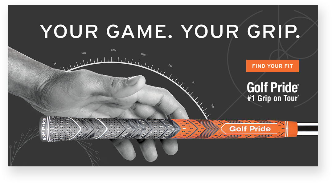 Sample Golf Pride paid search digital display ad - Your Game. Your Grip. Get fitted for the perfect grip.