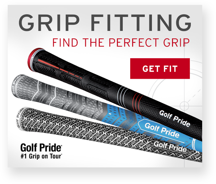 Sample Golf Pride paid search digital display ad - Grip Fitting. Find the perfect grip.