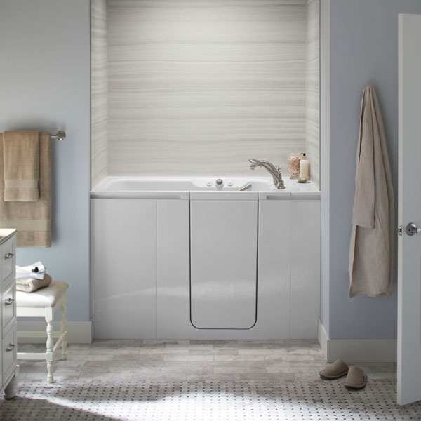 A Kohler Walk-In Bath in an elegant bathroom