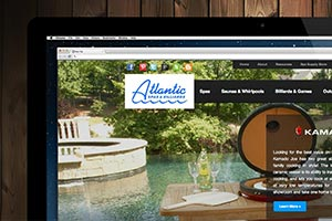 Atlantic Spas & Billards - Website Re-Design With E-Commerce Integration & PPC