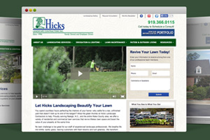 Hicks Landscaping - Website Re-Design, Development, SEO & Videograpy