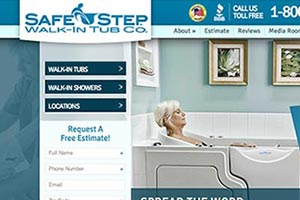 Safe Step Walk-In Tub Company - Paid Search, Web Design, SEO & Intranet Development