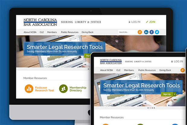 North Carolina Bar Association - Responsive Design, Development & CMS