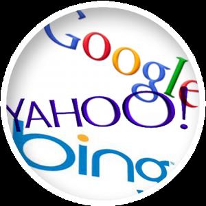 Google, Yahoo, Bing Logos