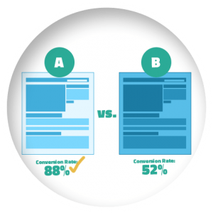 A/B Variable Testing Landing Pages