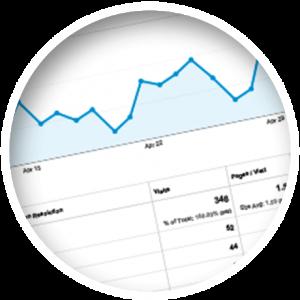 Google Analytics Traffic Graph