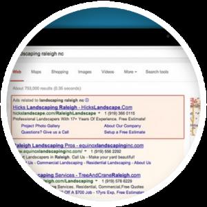 PayPerClick Advertisement on Google