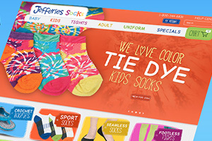 Jefferies Socks - Responsive B2B Ecommerce Site