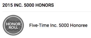 Inc. 5000 Honor Roll logo