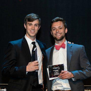 Matt and Warren from TriMark Digital accepting award