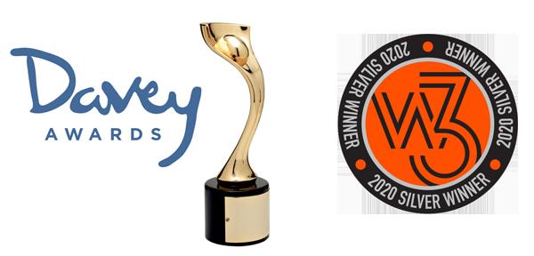 Davey and W3 award logos for KWIB blog