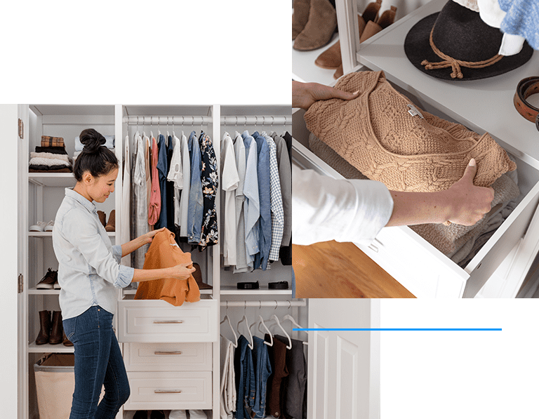 Image of women using Closets By Liberty system